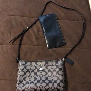 Coach bag and clutch. Perfect condition